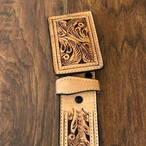 Accessories - Hand Made Vintage Inspired Tooled Leather Belt
